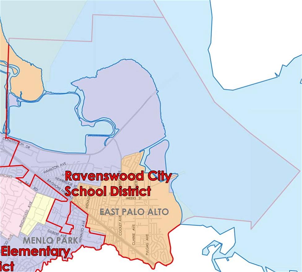 Menlo Park City School District Boundaries
